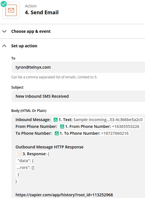Marketo 2 way SMS email alert for inbound SMS