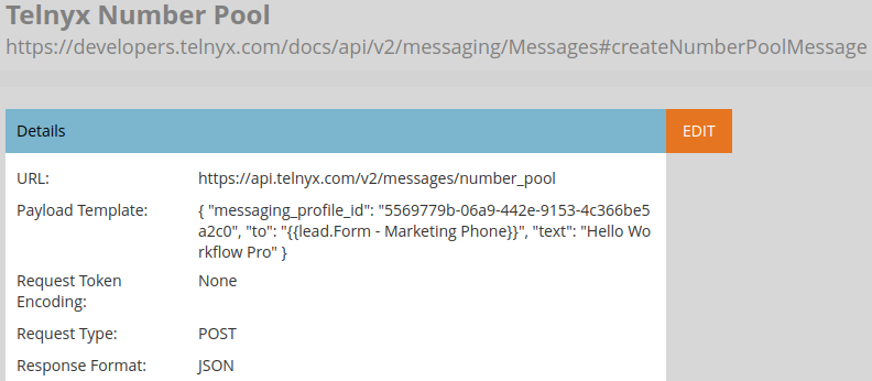 Marketo text messaging with Number Pool