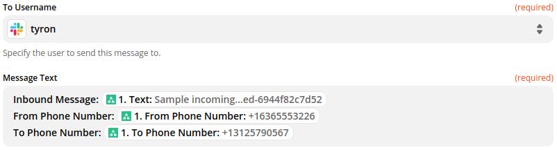 Forward SMS to Slack using Zapier